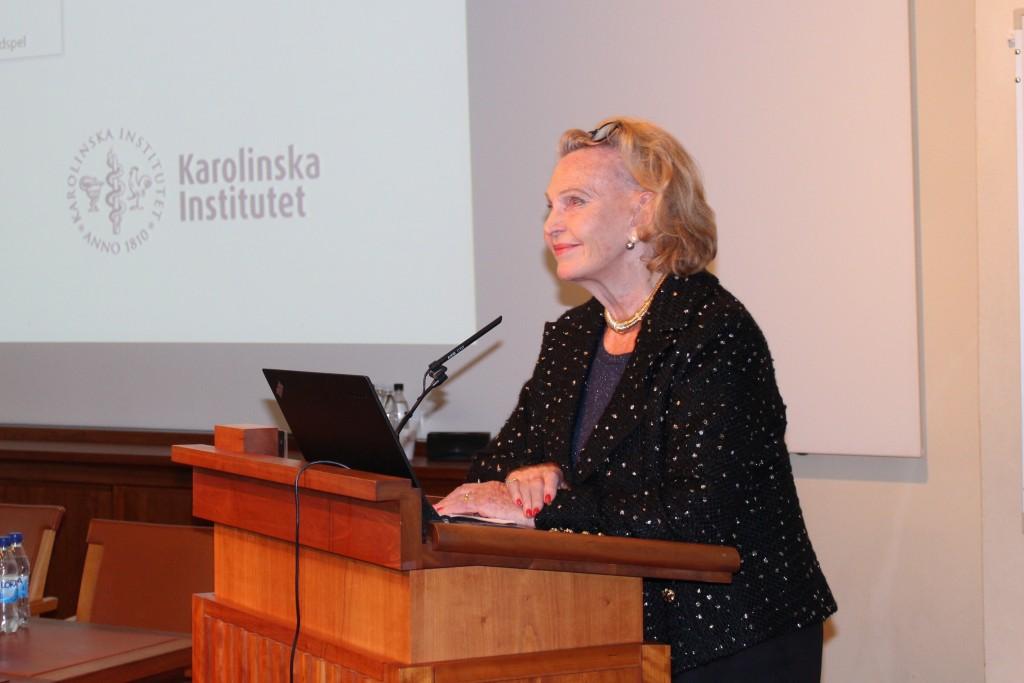 Med dr. h.c. Marianne Bernadotte hälsar välkomna till Jubileumsmötet